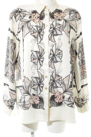 Delmod Langarm-Bluse florales Muster Elegant