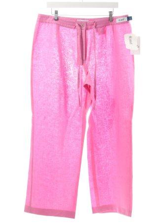 Delmod Leinenhose rosa klassischer Stil
