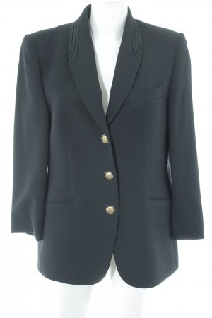 Delmod Blazer de esmoquin negro elegante