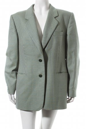 Delmod Wool Blazer shepherd's check pattern business style