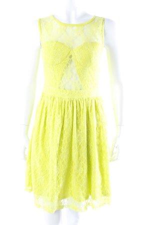 Vestido bustier amarillo limón