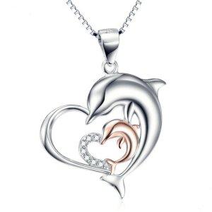 Delphin-Halskette 925 Sterling Silber