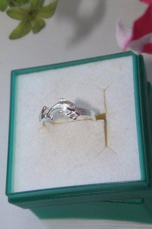 Delphin - Ring * Fingerring * Zehenring * gestempelt * verstellbar * NEU *