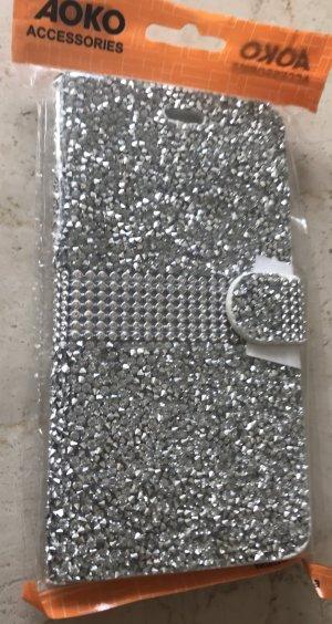 Hoesje voor mobiele telefoons zilver