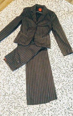 Sir Oliver Traje de negocios marrón-marrón claro tejido mezclado