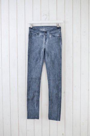 DENHAM Damen Hose Mod.Cleaner Skinny Fit Schmal Grau Batik Baumwollgem. Gr.36/34