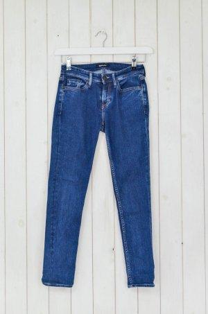 DENHAM Damen Jeans Mod.Denham Cleaner Tight Blau Stretch Skinny Gr.34