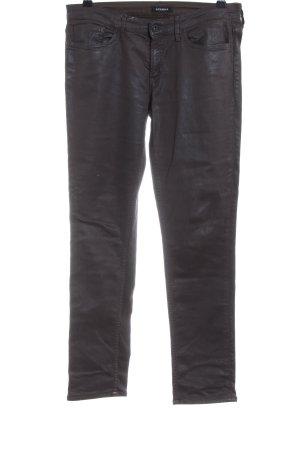Denham Pantalón de cinco bolsillos marrón look casual