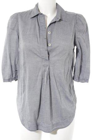 Denham Hemd-Bluse graublau-weiß Casual-Look