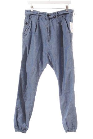 Denham High-Waist Hose blau meliert sportlicher Stil
