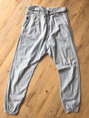 Denham Harem Pants blue cotton