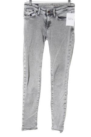 Denham Skinny Jeans hellgrau schlichter Stil