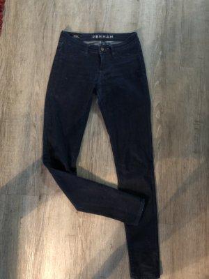 Denham Jeans cigarette bleu foncé