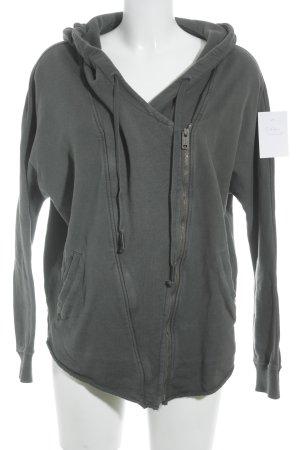 Denham Chaqueta de tela de sudadera gris oscuro estilo deportivo