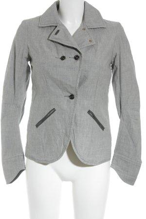 Denham Unisex blazer lichtgrijs gestippeld zakelijke stijl