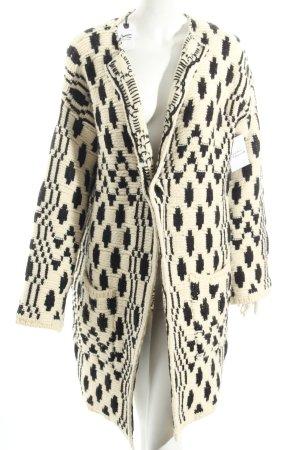 Denham Wolljacke schwarz-creme abstraktes Muster Street-Fashion-Look