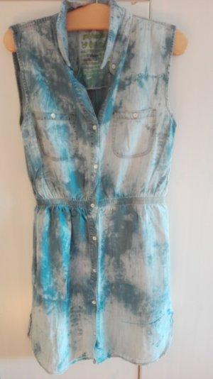 Denim/Batik Sommerkleid, L, 100% Lyocell