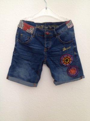 Desigual Pantalón corto de tela vaquera azul Algodón