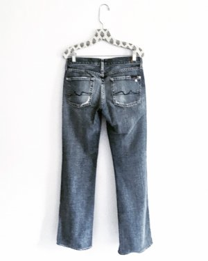 7 For All Mankind Vaquero rectos azul-azul celeste