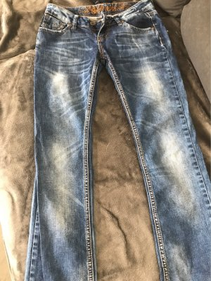 Soccx Low Rise Jeans dark blue