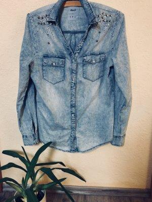 Denim Co. Chemise en jean bleuet