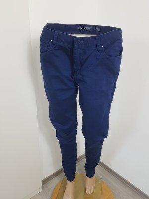 Denim Co. Pantalon cigarette bleu foncé coton