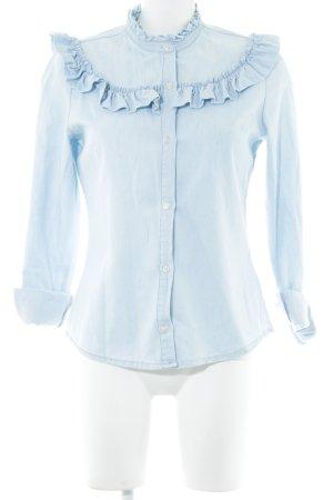 Denim Co. Blusa vaquera azul estilo «business»