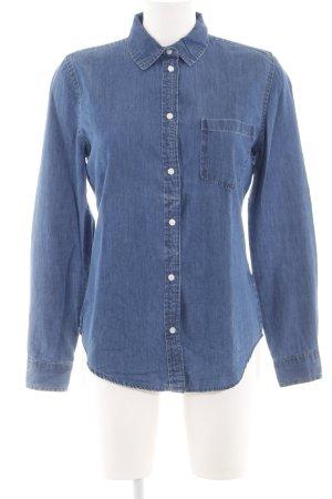 Denim Co. Camicia denim blu stile casual