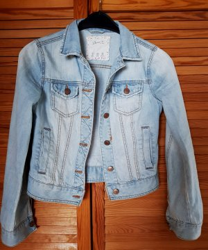 Denim&Co Jeansjacke Distressed 34 hellblau