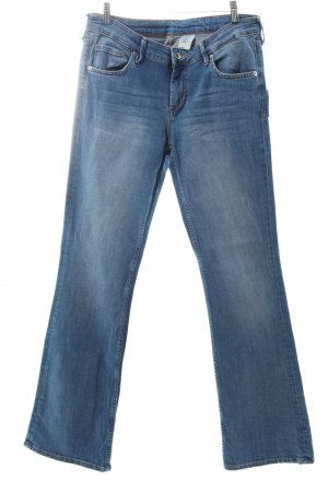 Denim Co. Jeansschlaghose blau Jeans-Optik