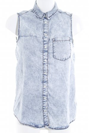 Denim Co. Gilet en jean bleu azur style décontracté