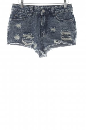 Denim Co. Shorts blau Used-Optik