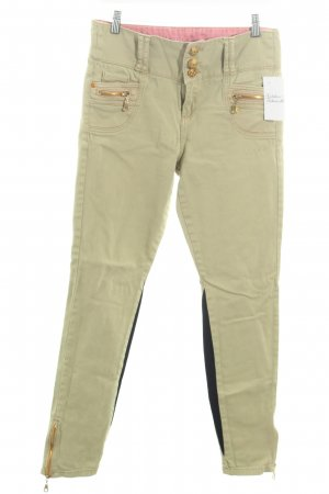 Denim Co. Skinny Jeans grasgrün-schwarz Casual-Look