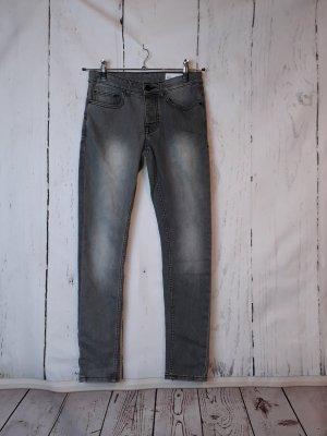 Denim Co. Super Skinny Jeans - W30/L32 - grau
