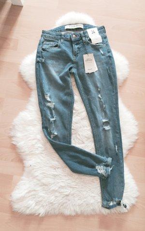 Denim & Co. Super Skinny Ripped Jeans Destroyed NEU Gr.XS