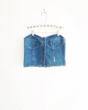 denim corsage / vintage / blue jeans / top / blau