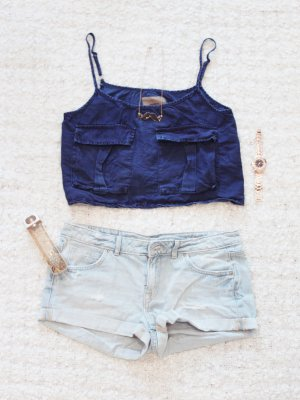 Denim Dame | Crop Top im Denim-Look