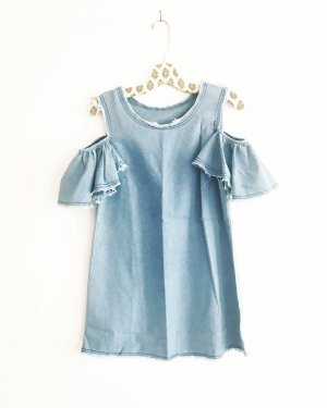 denim dress / free people / blue jeans / jeans kleid / boho / hippie / festival / mini