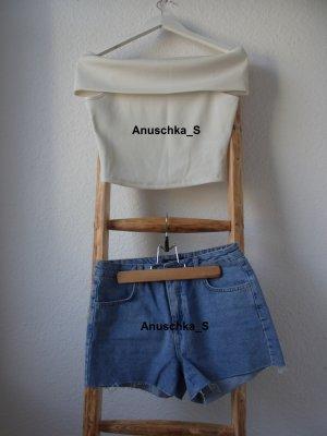 Denim Highwaistshorts / Vintage-Look / Highwaisted Jeansshorts / Mittelblau / Vintage / Used Look