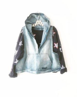 denim hoodie • tank • free people • blue jeans • bohostyle • hippielook • oversized