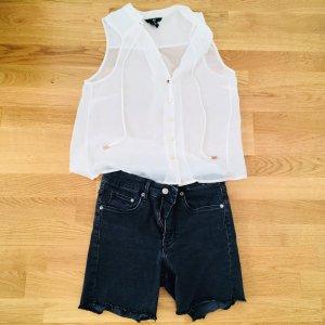 Denim Hosen - Denim High waisted cut-off shorts