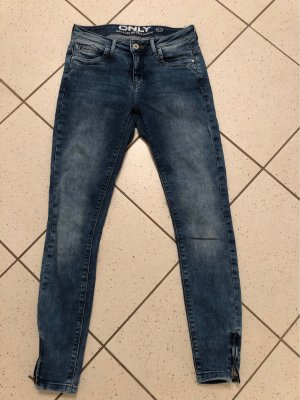 Only Lage taille broek blauw
