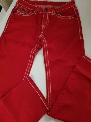 Stretch broek rood