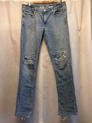 H&M Jeans boyfriend blu scuro Tessuto misto