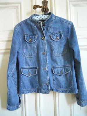 Denim Jeans Jacke Military Style vintage Gr. 38/40
