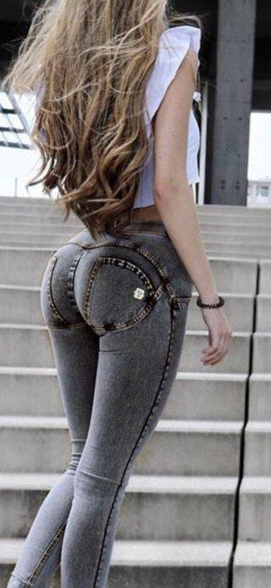 Denim Jeans Stretch in Anthrazit Gr S (36) sexy Popo