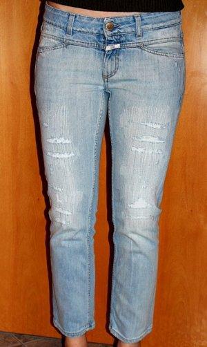 Closed Jeans a 7/8 blu pallido Cotone