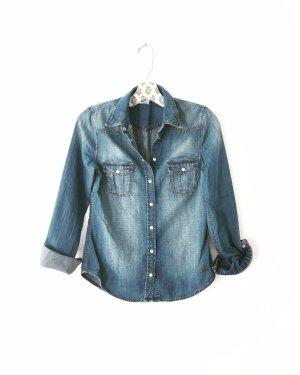 Vintage Camicia denim multicolore