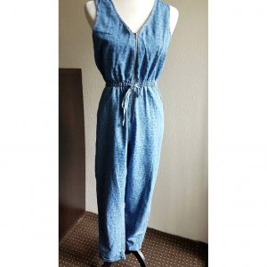 Denim Jumpsuit /ärmellos/ lang