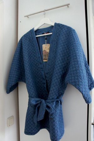 Denim-Kimonojacke mit Gürtel